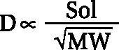 и обратно пропорциональна корню квадратному из молекулярного веса